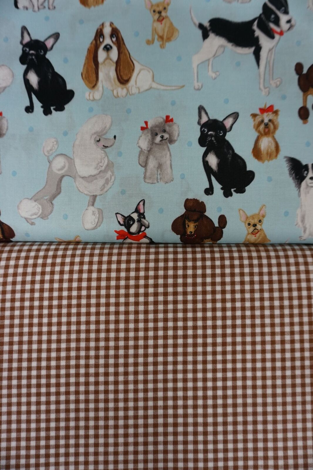 Delightful Doggies is a reversible fabric combination available from Nana's Creations.